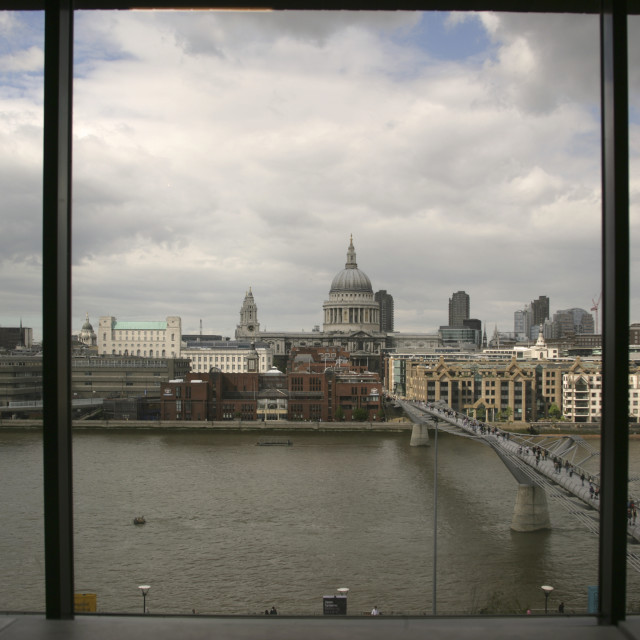 """View of London from Tate Museum-69831"" stock image"