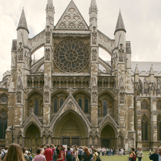 """Westminster Abbey, front, London"" stock image"