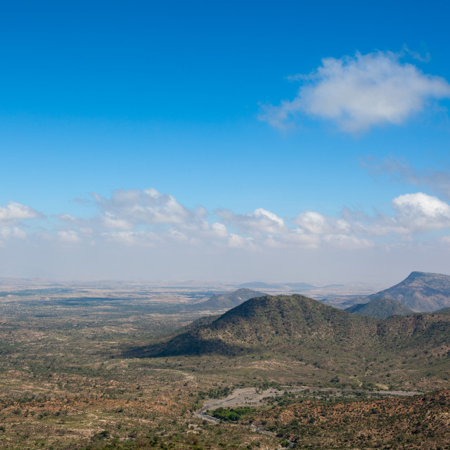 """""""A panoramic view of the sheikh mountains, Togdheer, Sheikh, Somaliland"""" stock image"""