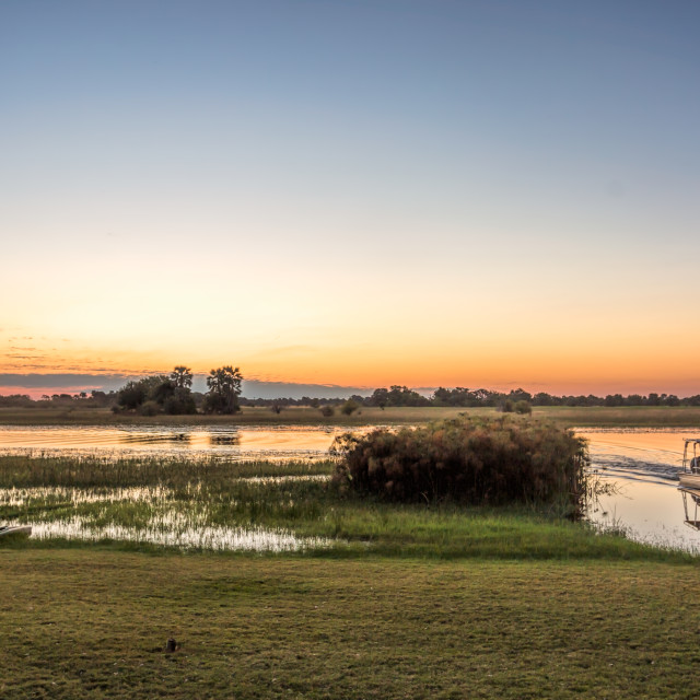 """""""Sunset on the Chobe River"""" stock image"""