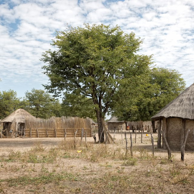 """""""African Village"""" stock image"""