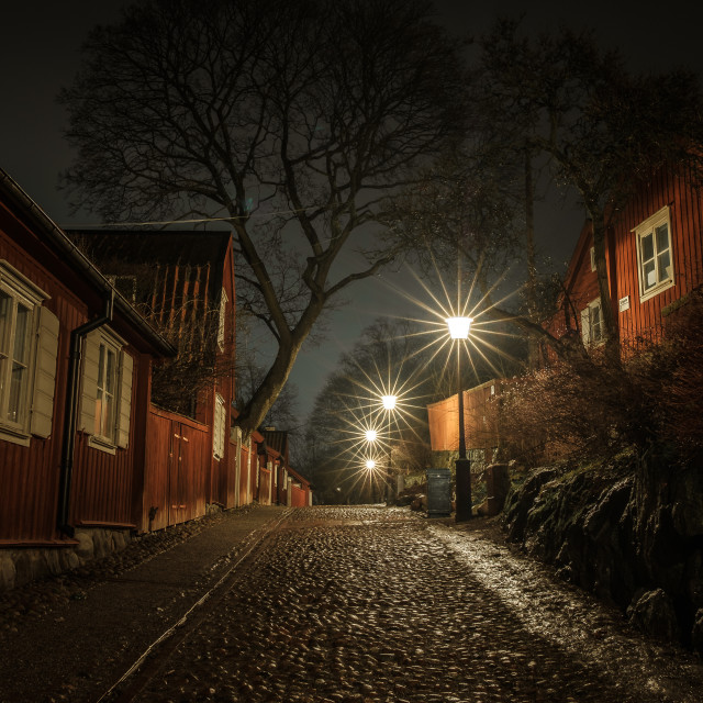 """Night scene at Södermalm in Stockholm"" stock image"