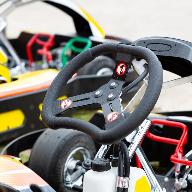 """Close up of a kart"" stock image"