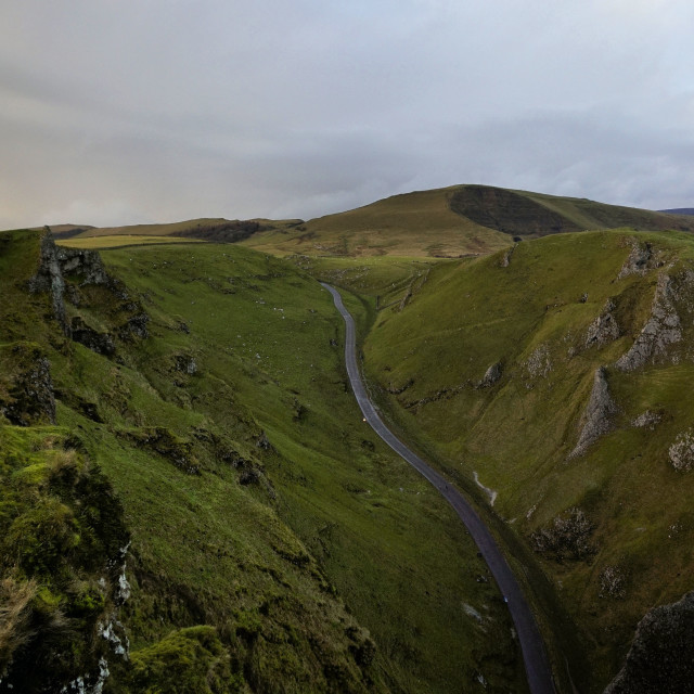 """Winnats Pass."" stock image"