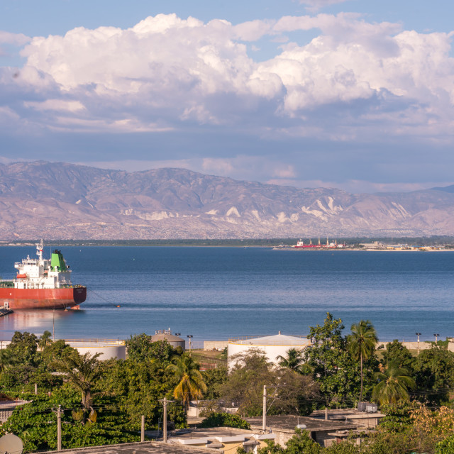 """The bay of Port-au-Prince Haiti"" stock image"