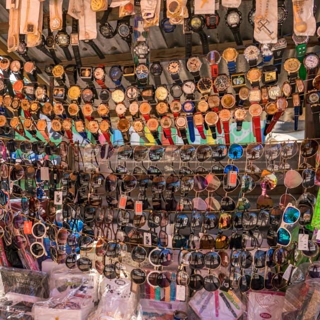 """Street vendor stall in Haiti"" stock image"