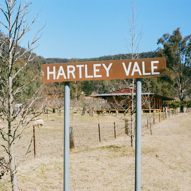 """Hartley Vale sign,"" stock image"