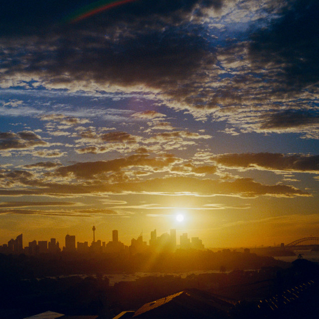 """35mm Sydney Sunset 2017"" stock image"