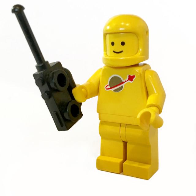 """Vintage Lego space figure"" stock image"