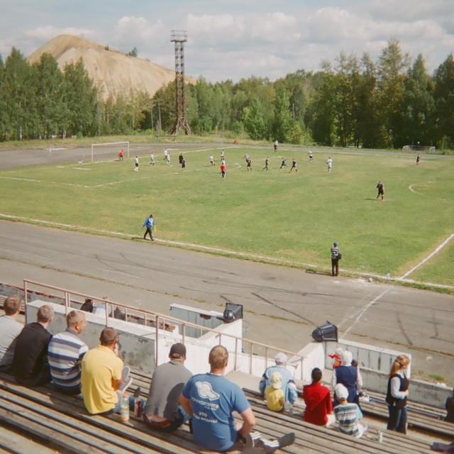 """Rural Russian Football"" stock image"