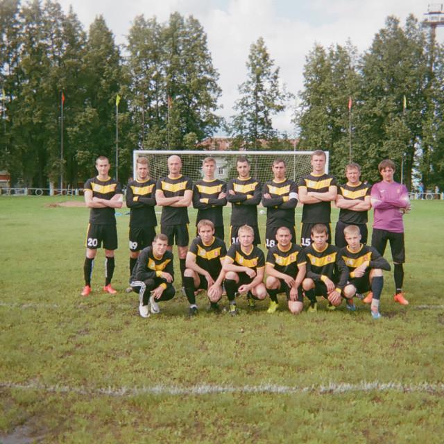 """Rural Russian football team"" stock image"