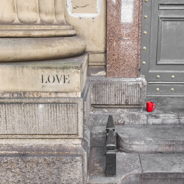 """Seeing love in urban spaces"" stock image"