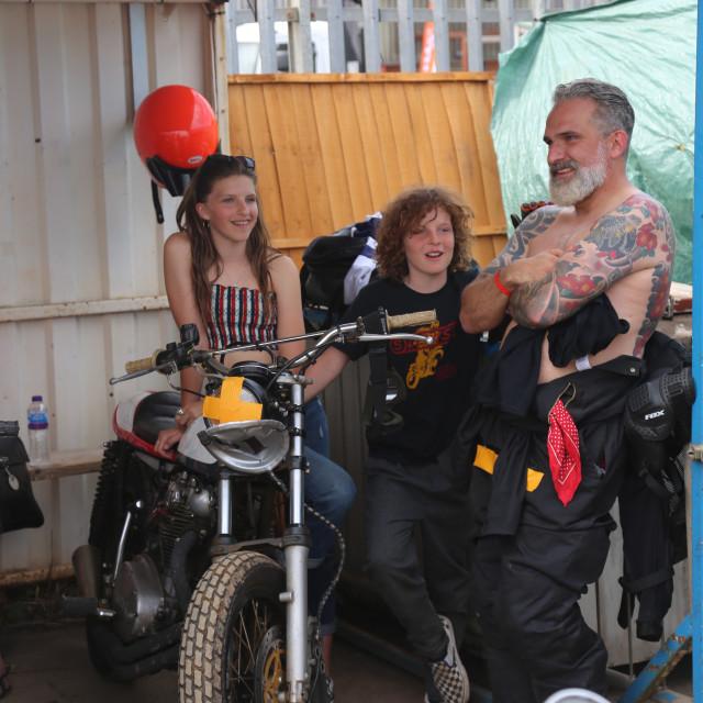"""Motorbike family"" stock image"