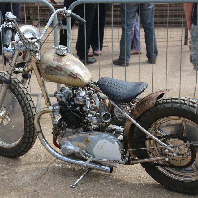 """An oval flat track race motorbike"" stock image"