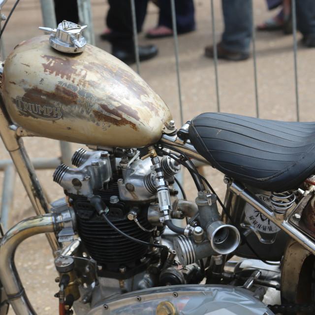 """An oval track race motorbike"" stock image"