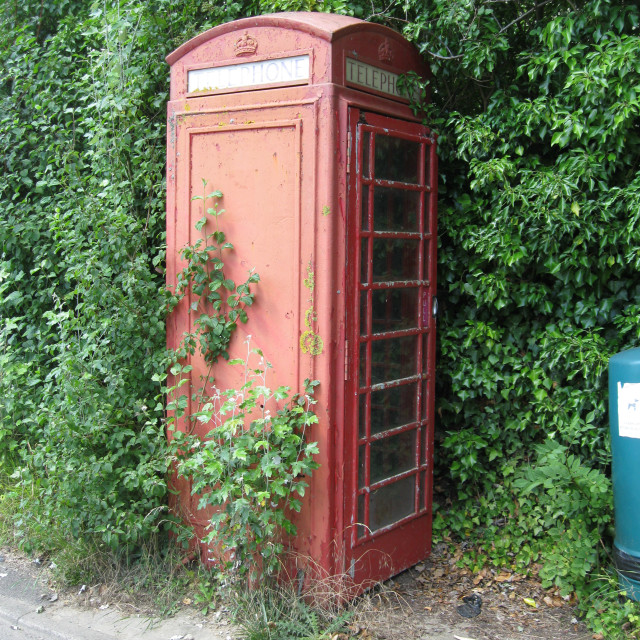 """""""Old telephone box in England"""" stock image"""