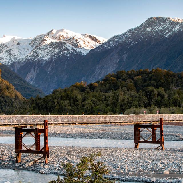 """Bridge – Franz Josef"" stock image"
