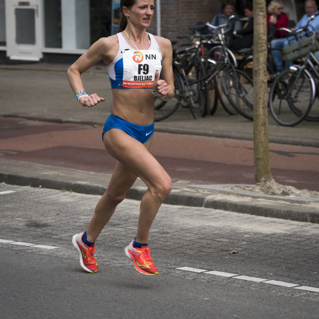 """""""Female marathon runner"""" stock image"""