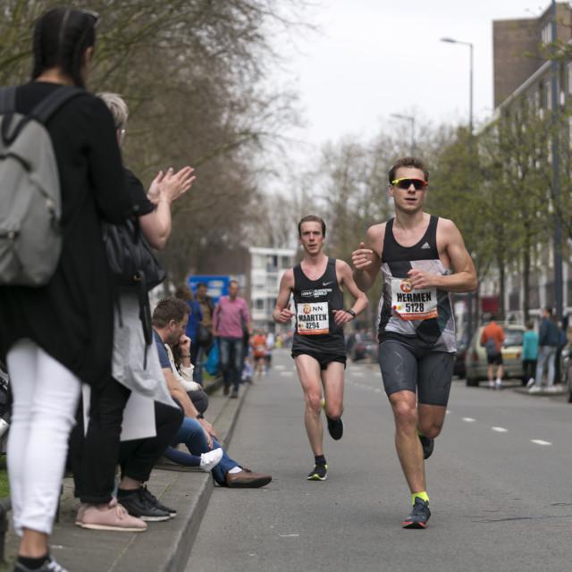 """Marathon runner s together"" stock image"