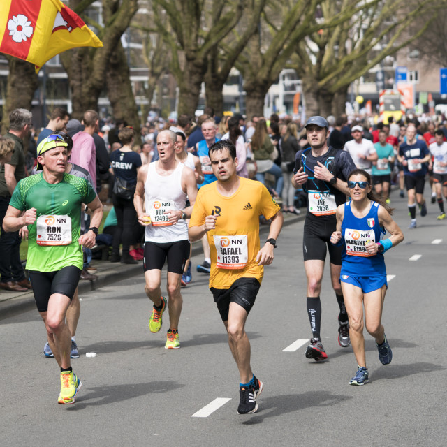 """""""Marathon running in Rotterdam"""" stock image"""