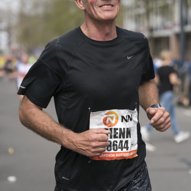 """""""Runner in black"""" stock image"""