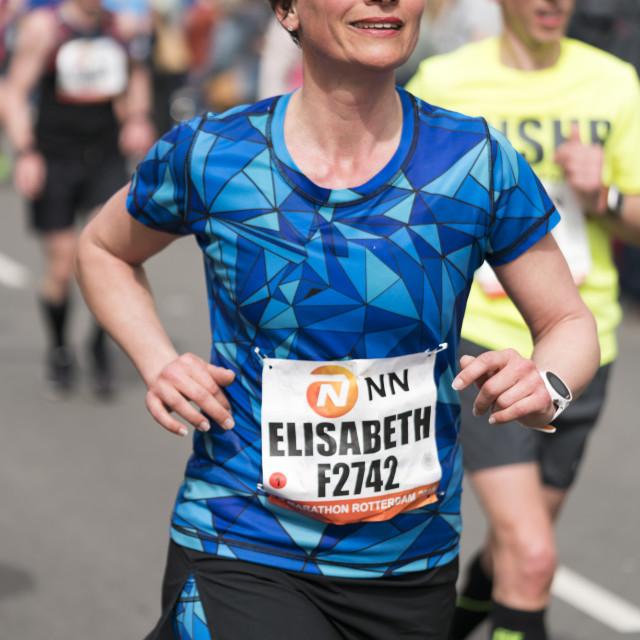 """""""Smiling female runner"""" stock image"""