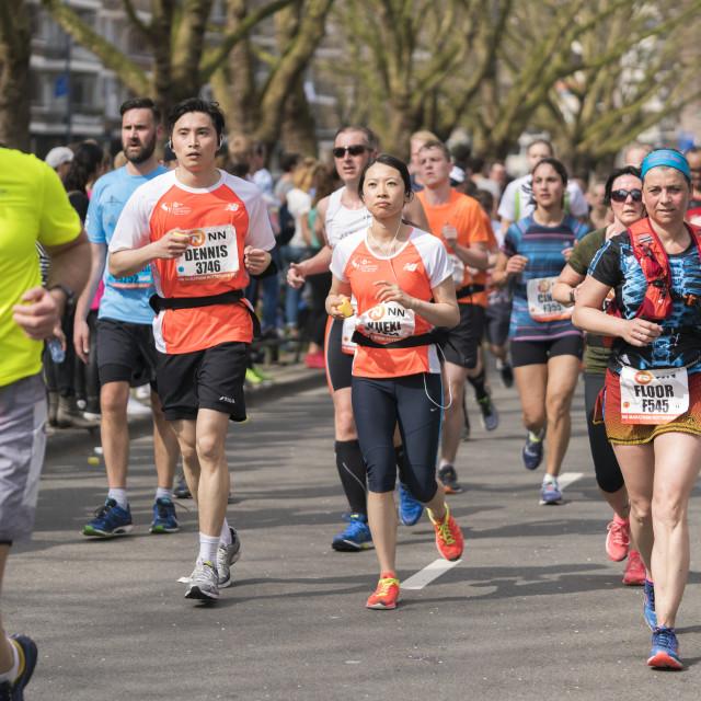 """""""Rotterdam marathon runners"""" stock image"""