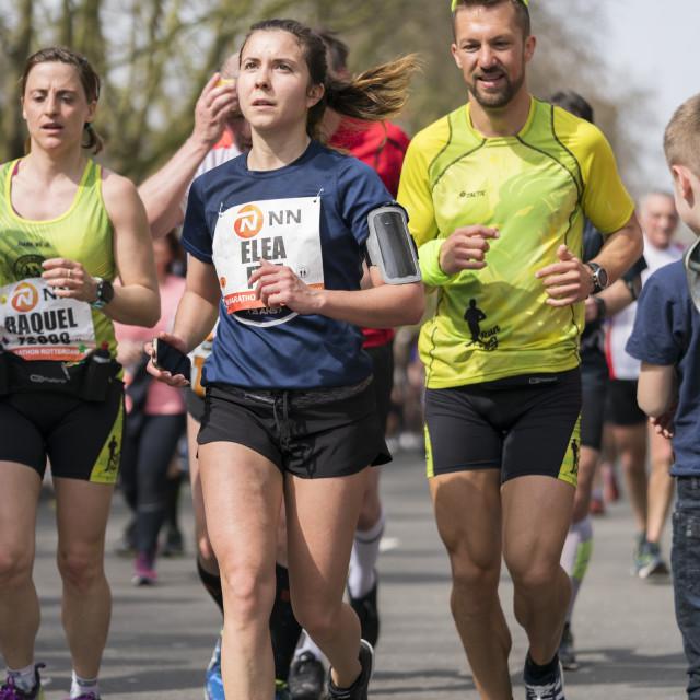 """""""Marathon runners in Rotterdam"""" stock image"""