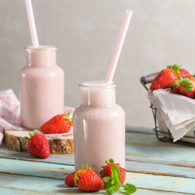"""""""Healthy strawberry smoothie"""" stock image"""