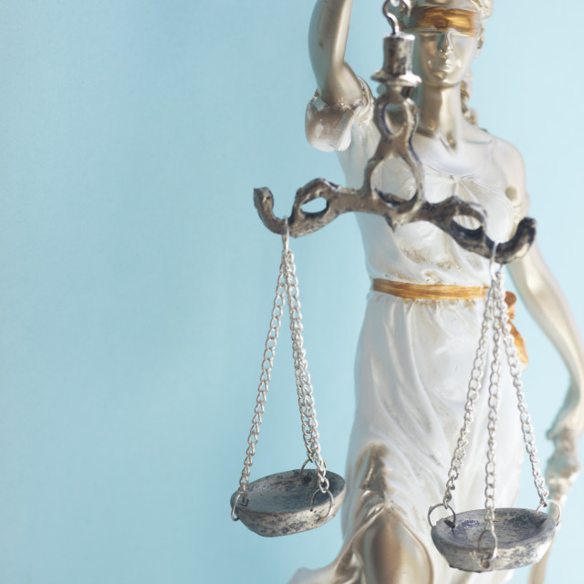 """""""Law firm legal statue Themis"""" stock image"""