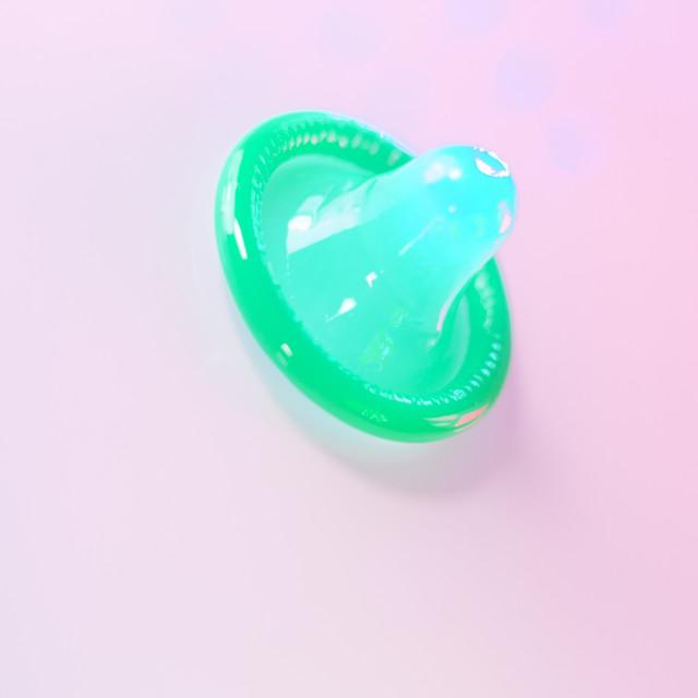 """""""Rubber condom contraceptive"""" stock image"""