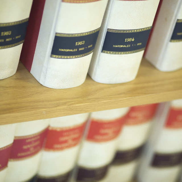 """""""Law firm legal books"""" stock image"""