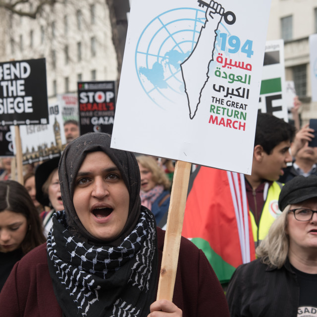 """""""Protest for Gaza and Stop the Killing, London, UK"""" stock image"""