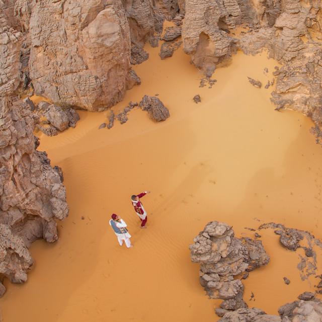 """Libyan Sahara Maggadit"" stock image"
