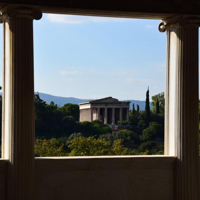 """temple of hephaestus columns"" stock image"