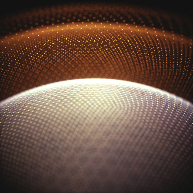 """""""Abstract spherical shapes, illustration"""" stock image"""