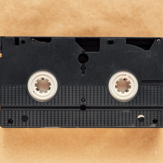 """Video cassette tape"" stock image"