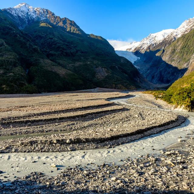 """Franz Josef Glacier Walk – moraine"" stock image"