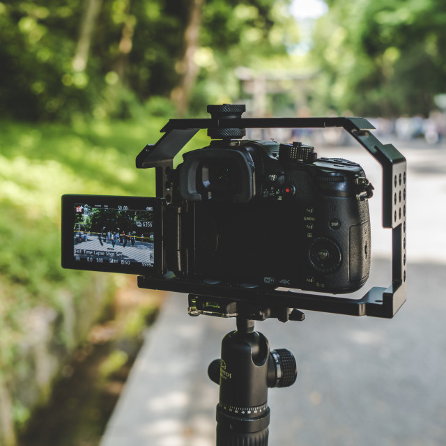 """GH4 filming Timelapse"" stock image"