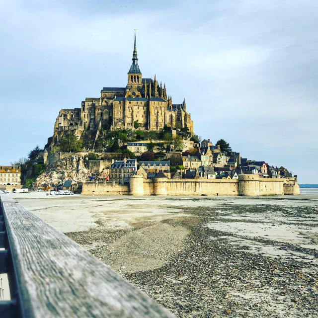 """Mont Saint-Michel, Normandy"" stock image"