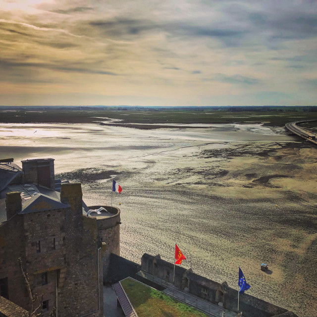 """View from Mont Saint-Michel, Normandy"" stock image"