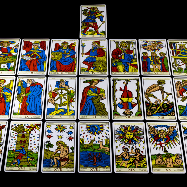 """Marseille Tarot - Major Arcana"" stock image"