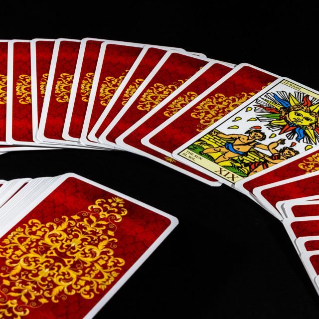 """""""Marseille Tarot - The Sun"""" stock image"""
