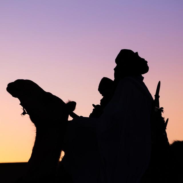 """Tuareg silhouette"" stock image"