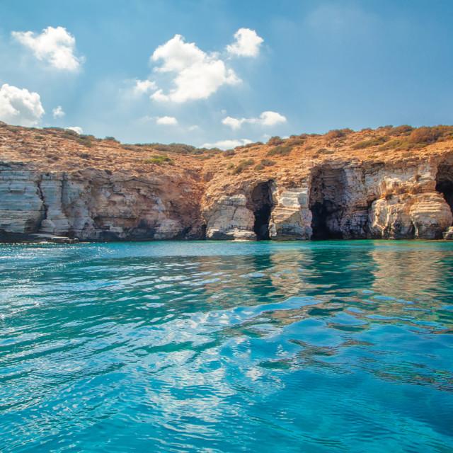 """""""Ras El Hilal Caves"""" stock image"""