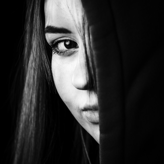 """B&W Portrait"" stock image"