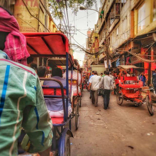 """Delhi street-life"" stock image"
