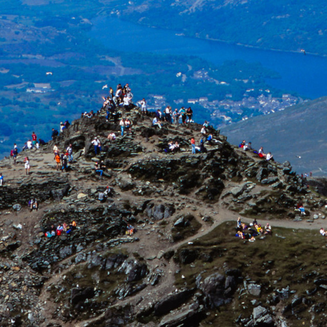 """Busy Snowdon 1"" stock image"
