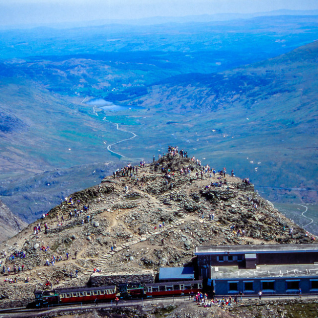 """Busy Snowdon 2"" stock image"