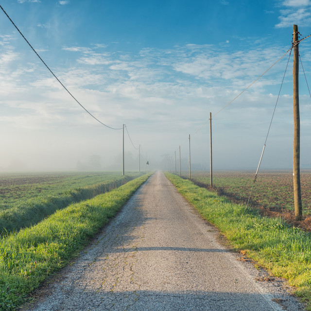 """Countryside road"" stock image"
